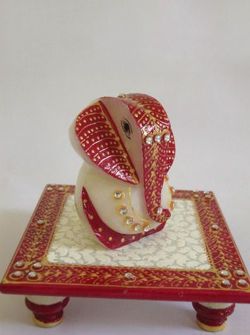 Ganesh Marble with Chowki